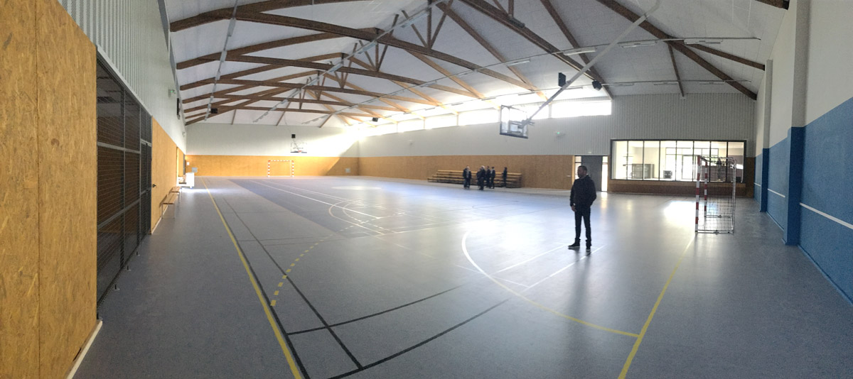 Rénovation de la salle de sport de Mouilleron en Pareds par DGA Architectes