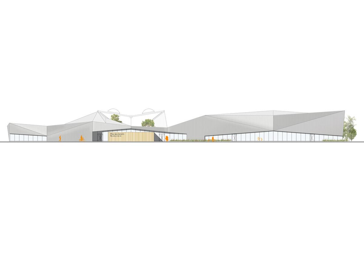 Devanture pôle multisport Bellevigny créé par DGA Architectes