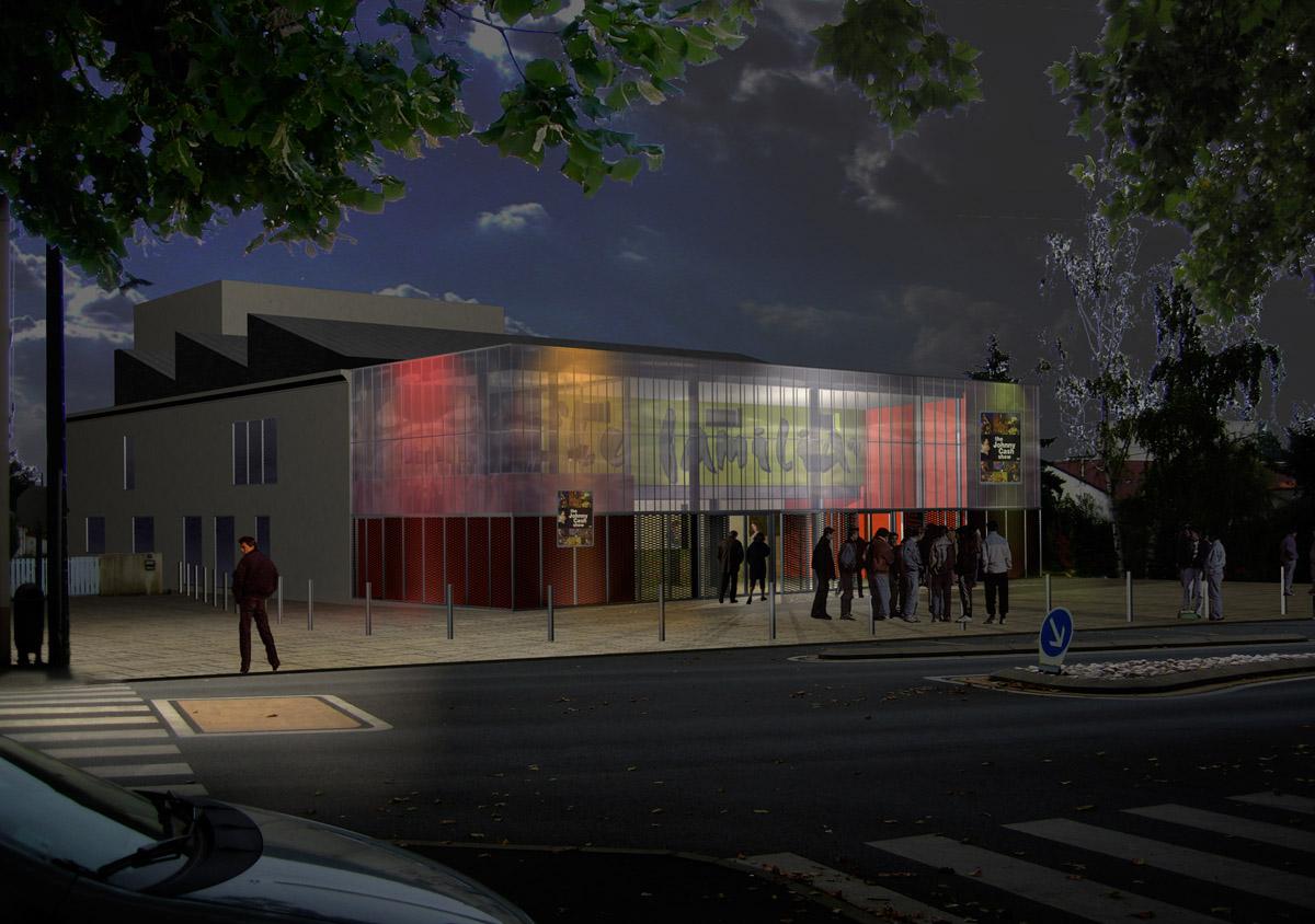Projet salle polyvalente des Herbiers créé par DGA Architectes