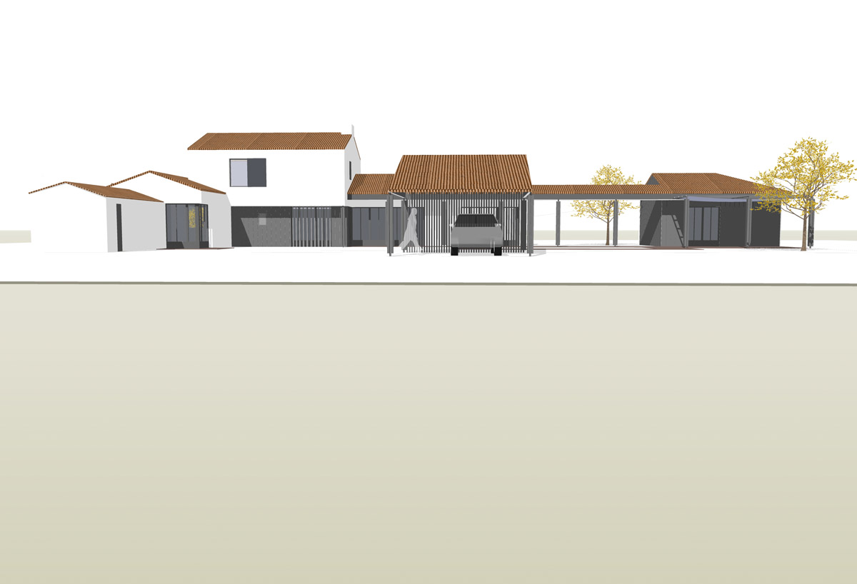 Maison d'habitation construite aux Sables d'Olonne par DGA Architectes