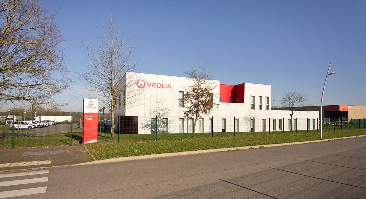 Véolia la Roche sur Yon construite par le cabinet DGA Architectes en Vendée
