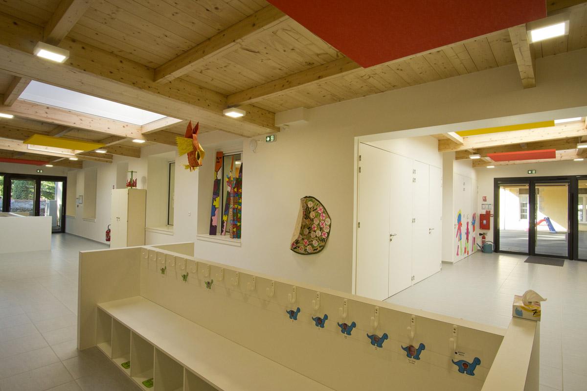 Entrée de l'école de la flocellière - DGA Architectes