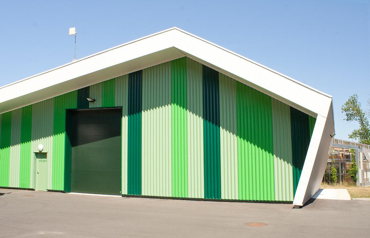 Ateliers verts Les Herbiers construit par DGA