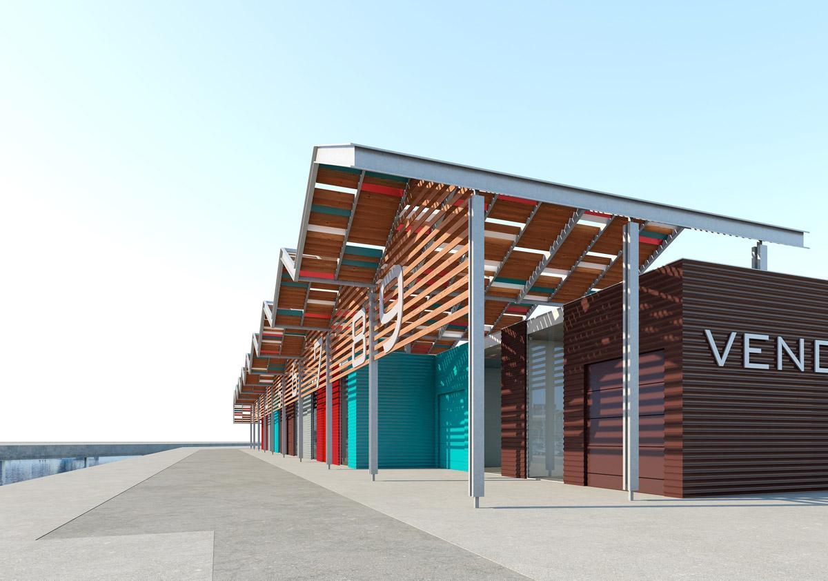 Construction de cellule commerciale aux Sables d'Olonne par DGA Architectes en Vendée