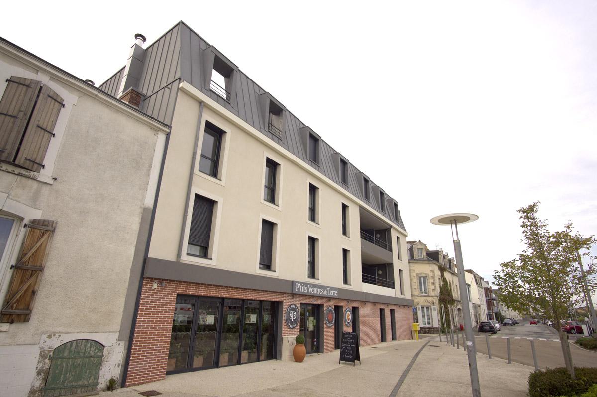 Ensemble immobilier de la Roche sur Yon création de DGA Architectes