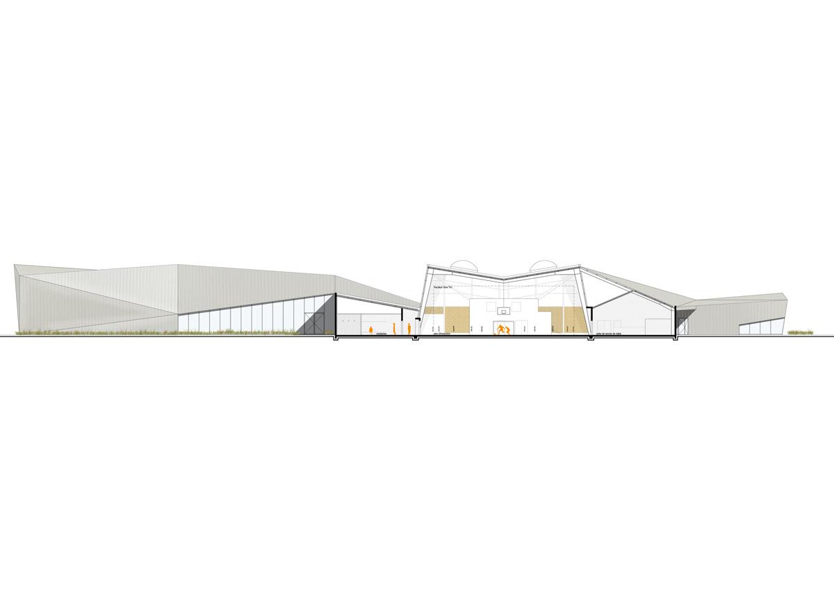 Bellevigny agrandie son pôle multisport grâce à l'agence DGA Architectes des Herbiers