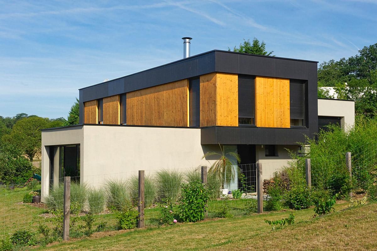 Façade arrière maison architectes les Herbiers - DGA Architectes Vendée