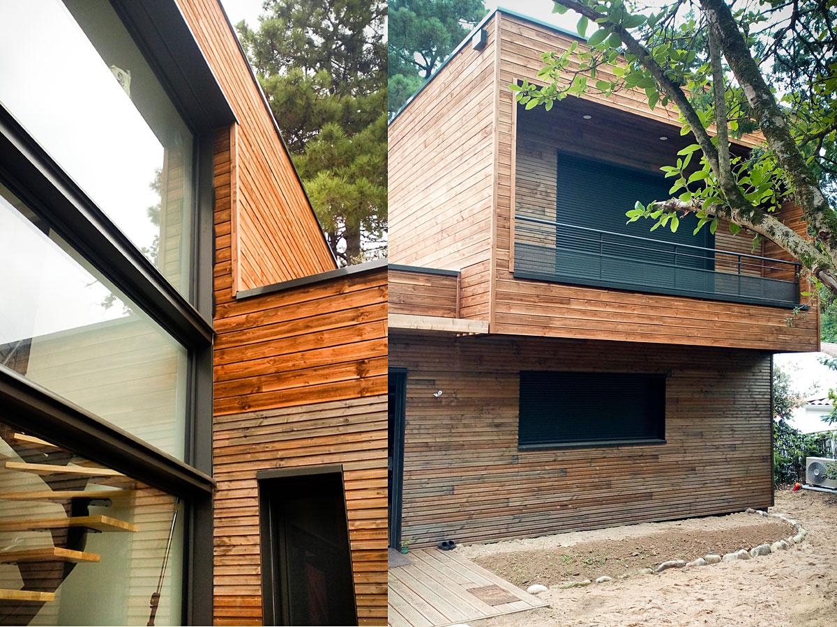 Maison en bois à Jard sur Mer réalisation DGA Architectes