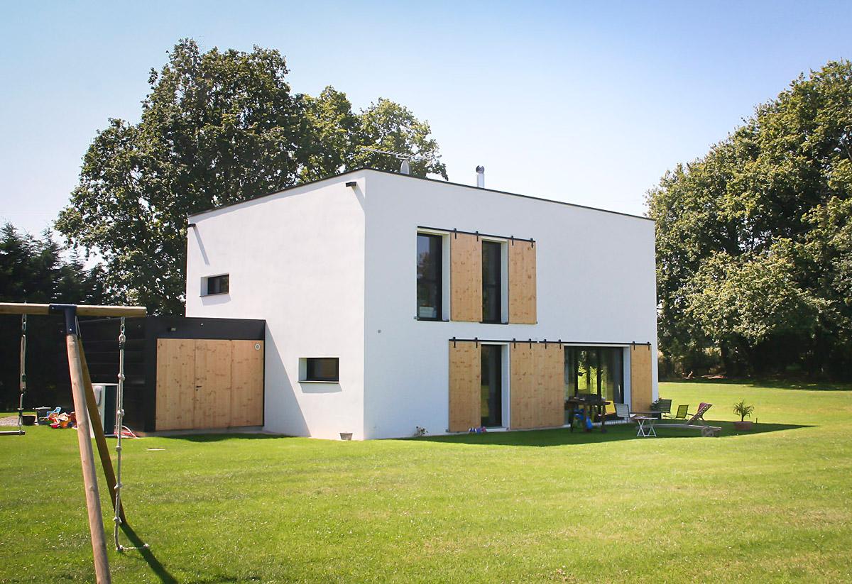 Maison individuelle à étage, réalisation DGA Architectes en Vendée