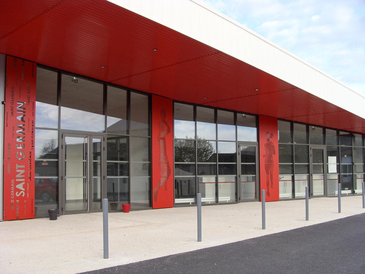 Nouvelle salle polyvalente de St Germain de Prinçai réalisée par le cabinet d'architectes DGA