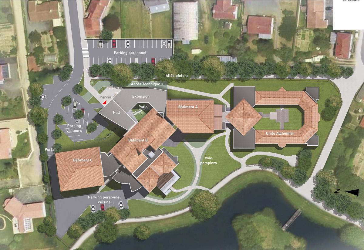 Plan EHPAD St Christophe du Ligneron - DGA Architectes
